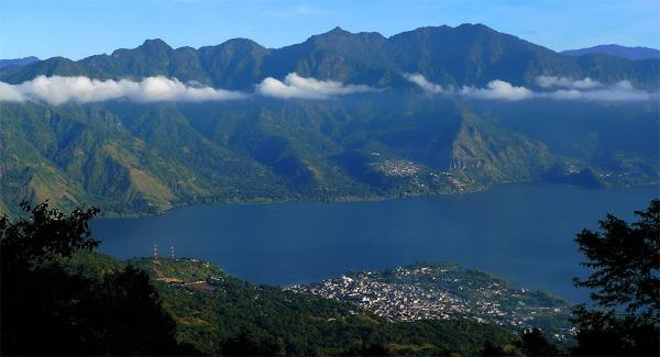 The first proper view of Atitlan