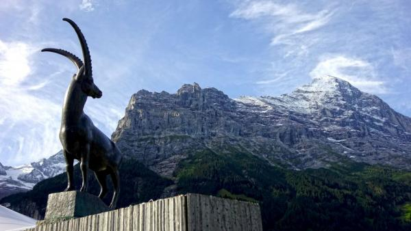 Grindelwald, north face of the Eiger ...