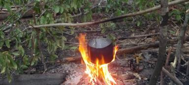 How to start a fire in the wilderness