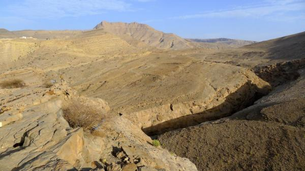 Above the junction of the canyons