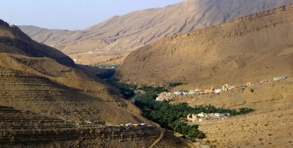 Magnificent views of the wadi