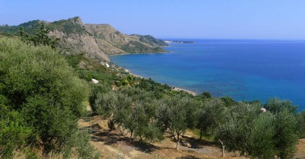 The first view of Dafni beach