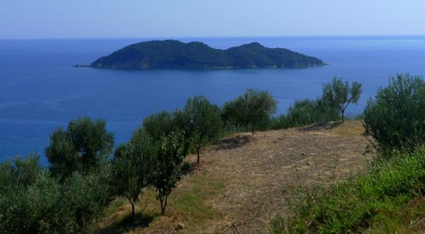 View of the island of Kalonisi