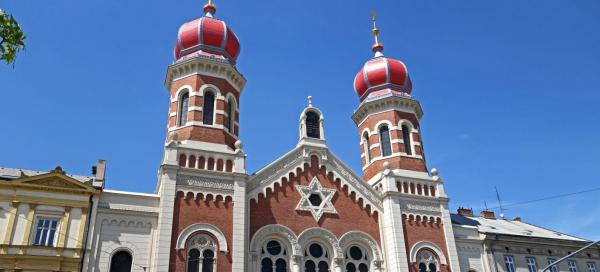 The Great Synagogue in Pilsen