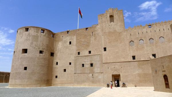 Jabrin Castle from the courtyard