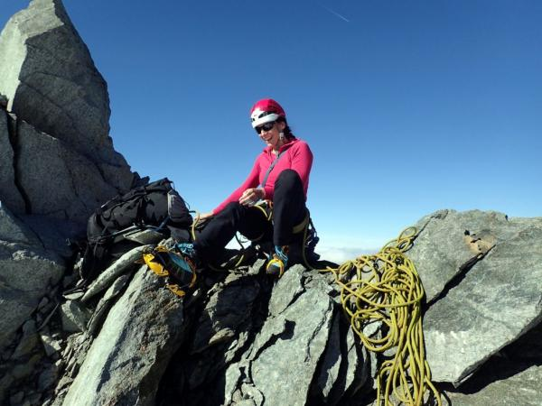 On the ridge, about 200 meters from the top