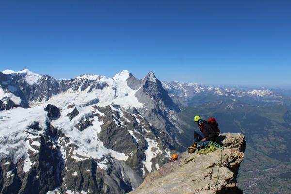 View of the Eiger and Monch