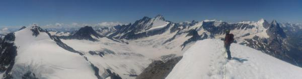 Deserved view from the top of Wetterhorn