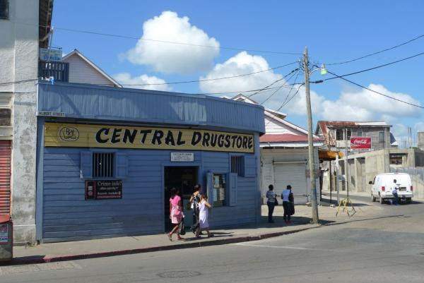 The streets of Belize City