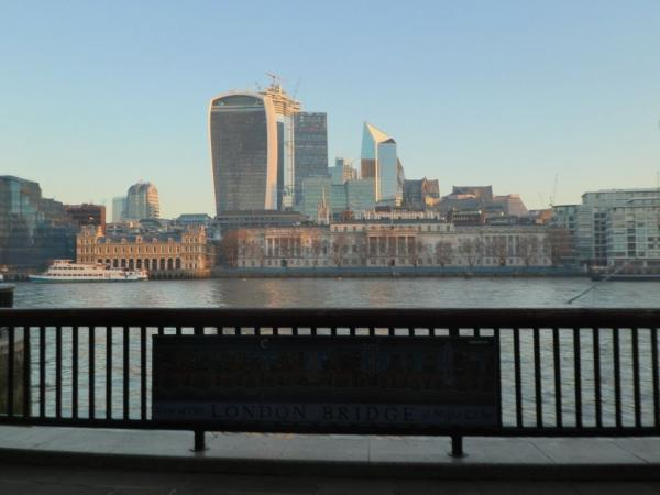 View of the financial center in the City of London