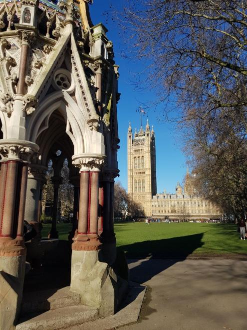 View from Victoria Tower Gardens on the Parliament Buildings