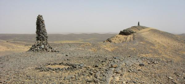 Stop at the ridge of fossils