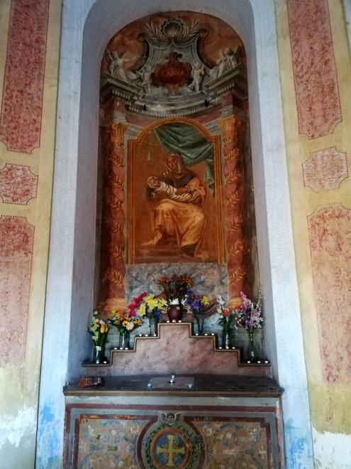 The interior of the chapel of St. Anny