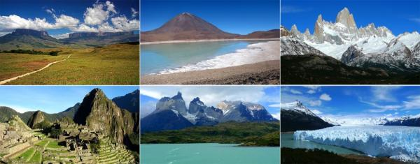 The most beautiful places of South America