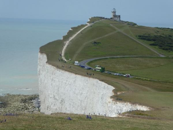 Road on top of the cliffs