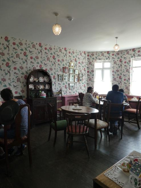 Period interiors of a café in a lighthouse