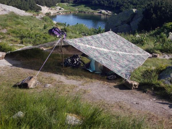 Equipment for sleeping in nature