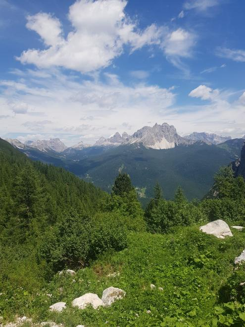 View of Tre Cime