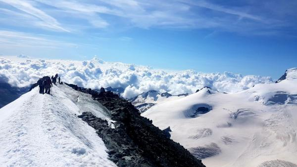 View from Allinhorn (4027 m) to the east