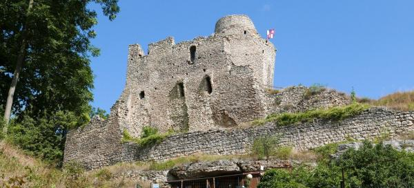A tour of the ruins of Michalovice Castle