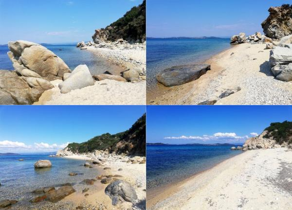 Deserted beach in Ouranoupoli