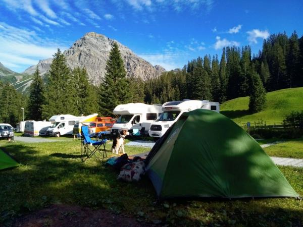 The only campsite in Arosa