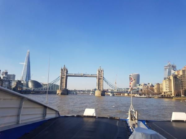 Slightly different views from the boat of the city