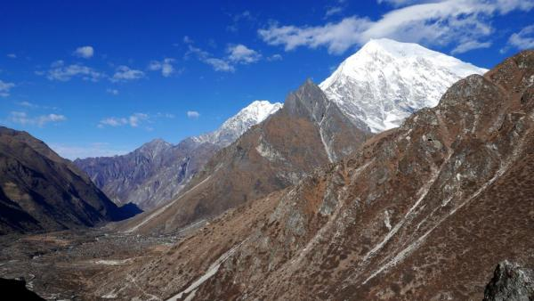 View of the Langtang valley