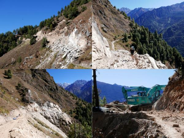 Construction of a road to Sherpagaon