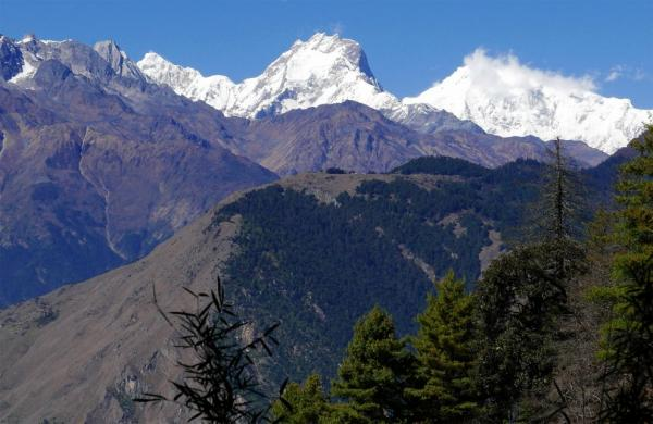 View of the Ganesh mountains