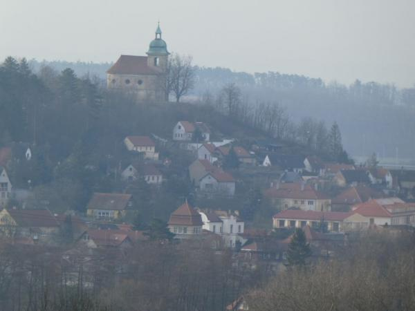 View of the church in Liběchov