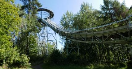 Ascent to the ski jump near Lomnice