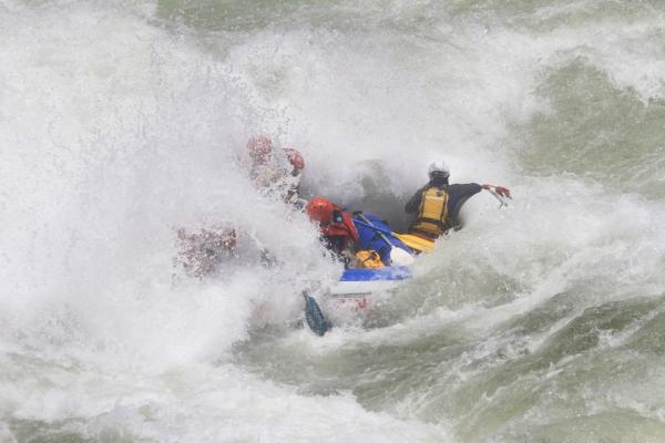 Passing through rapids is really challenging