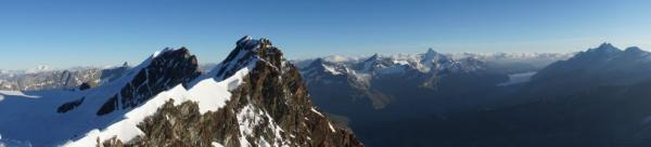 Panorama from the second peak