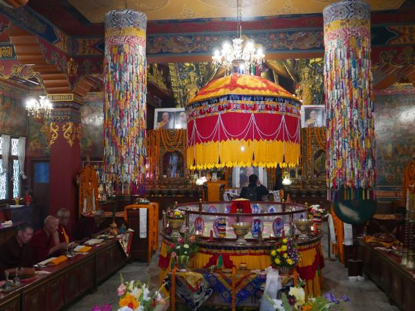 Buddhist ceremonies in the temple