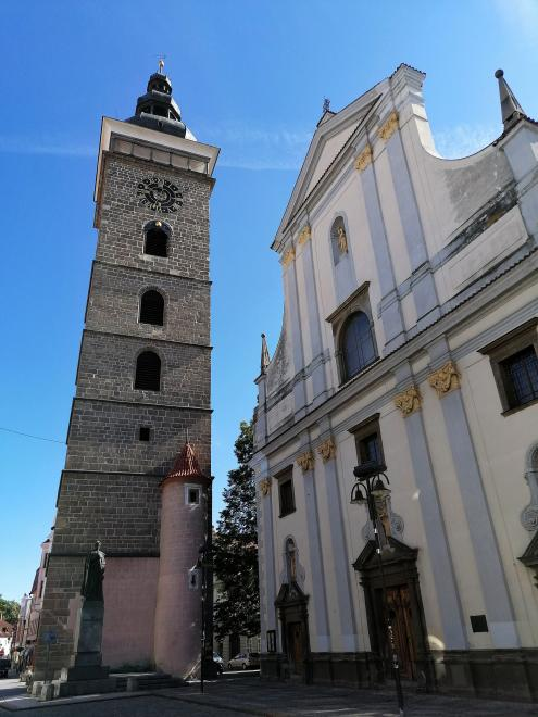 The Black Tower and the Cathedral of St. Nicholas