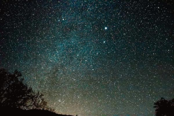 Night observation of the stars
