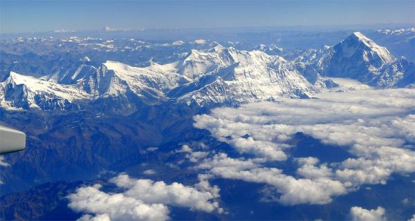 Aerial view to the north from Dhaulagiri