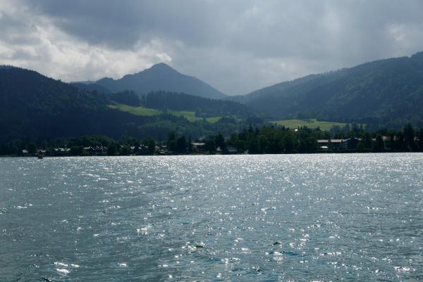 View over Lake Tegernsee