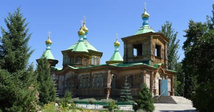 Wooden cathedral in Karakol